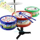 Rack Jazz Drums Rock Toy Set Kid Baby Children Musical Instrument Christmas Gift