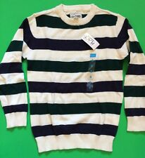 NEW! TCP Boys Sweater Shirt 5-6 Small Church School Gift! Nice Striped $24.95
