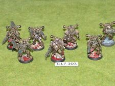 Warhammer 40k Chaos Space Marine 7 PLAGUE MARINES with Forgeworld bits (GL? 103)