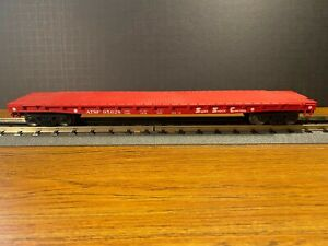 Weaver ATSF #95026 50' Flat Car 3-Rail Ultra Line
