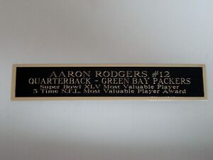 """Aaron Rodgers Football Card Green Bay Packers Display Case Nameplate 1.5"""" X 8"""""""