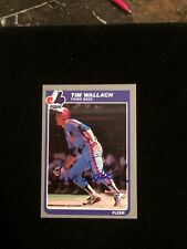TIM WALLACH 1985 FLEER Autographed Signed Baseball Card JSA 412 EXPOS