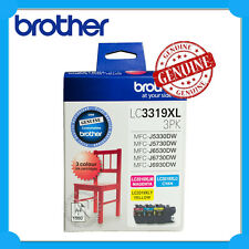 Brother Genuine LC3319XL-3PK C/M/Y High Yield Ink>MFC-J6530DW/J6730DW/J6930DW