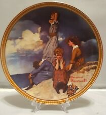 """Norman Rockwell """"Waiting On The Shore"""" Knowles Collector Plate#15188P"""