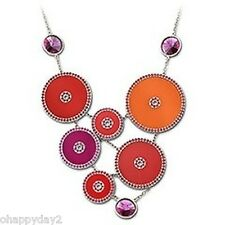 signed Swarovski~ Noon~ bright Geometric Necklace~NIB~ $170 ~ so great!