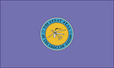 3x5 inch Choctaw Nation Flag Sticker - native american tribe indian logo decal