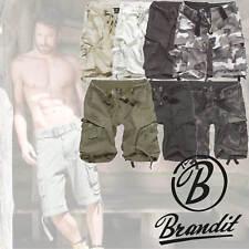 BRANDIT Herren Cargo Shorts Vintage 2002 kurze Hose Bermuda Army Outdoor NEU 200