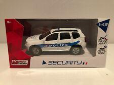 Voiture Miniature Duster Police Sécurité1/43 Collection Métal Neuf