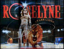 ROSELYNE ET LES LIONS Affiche Cinéma GEANTE 4x3 WIDE Movie Poster BENEIX Cirque