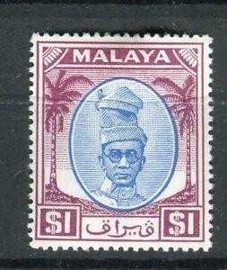 Malaya Perak KGVI 1950-56 $1 blue & purple SG146 CW33a MH