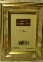 "Tropez Collection Floral w/Gold Trim Photo Frame Holds 3.5"" x 5"" Picture      44"