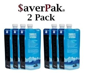 $averPak 2 Pack - Includes 6 Sawyer 16oz. Squeezable Pouches