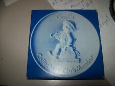 Mj Hummel Goebel 1976 Collectors Club Member Plate In Box