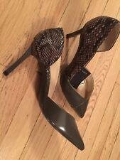 Zara Court Shoes high heels snake print Grey Brown Sz 9 Nwt