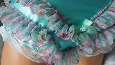 * Nouveau design ** DOUBLE SATIN VERT MENTHE Frilly Panties Sissy CD TV