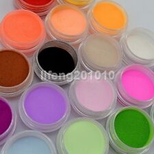 18 Colors Acrylic Nail Art Dust Powder For Nail Tips Decoration Builder Tools