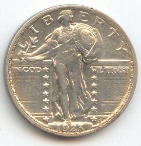 1923 Standing Liberty Quarter, AU Details, True Auction, No Reserve