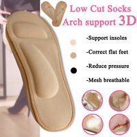 Women 3D Embossed Cushion Low Cut Ankle No Show Liner Soft Arch Support Socks
