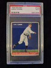 1933 Goudey Earl Combs #103 Yankees HOF - PSA 3 * Check out my other listings!