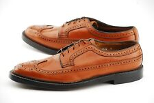 NEW OLD STOCK   FLORSHEIM 11C TAN VINTAGE LONGWING V CLEAT SHOES 93602