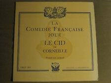 LA COMEDIE FRANCAISE JOUE LE CID DE CORNEILLE LP FRLP 1503 RARE FRENCH DRAMA VG+