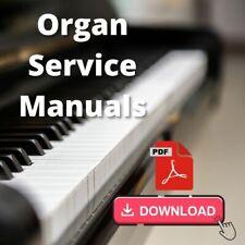 Yamaha Electone Organ model GX-1 Service Repair Manual and Schematics PDF on CD