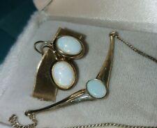 Opal Kette Plus Ohrringe 333 Gold