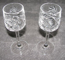 "Pinwheel Crystal Stemware Liqueur Cordial 5.75"" Tall 2 Lot EUC"