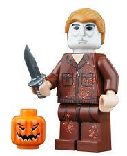 "Michael Myers custom printed 2"" minifigure with pumpkin & knife"