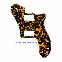 For US 72 Tele Deluxe Reissue Guitar Pickguard With PAF Humbucker, Leopard Print