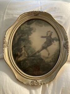 """Victorian Oval Picture """" The See Saw"""""""