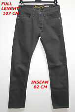 DESIGUAL JEANS LADY WOMAN GRAY  PANT MARKED SIZE 40 SLIM FIT LENGTH 107 CM