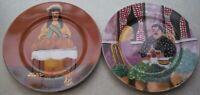 SET OF 2 GUY BUFFET MARCHE AUX FLEURS GBC Porcelain Salad Plates about 7 3/4 in.