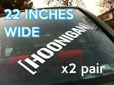 Hoonigan Banner x2 Pair 22 inch Decal Sticker Vinyl JDM KEN BLOCK DRIFT HOON