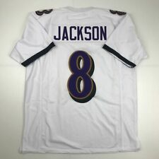 8# Lamar Jackson Baltimore Ravens-T-Shirt brod/é en Jersey de Sport pour Hommes