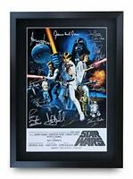 HWC Trading A3 FR Star Wars Movie Poster Cast Signed Gift FRAMED A3 Printed