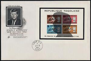 Tongo C41b on FDC - John F. Kennedy