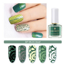 BORN PRETTY 6ml Nail Art Stamping Polish Varnish Agate Green Melody Life Series