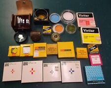 Lot of 30 misc. CAMERA FILTERS-ADAPTER RINGS - Vintage / Originals