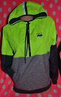 Victoria's Secret PINK Half Zip Anorak Windbreaker Jacket Green Gray Black XS/S