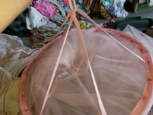 """Pottery Barn Kids """"Classic Pink Tulle"""" Canopy"""