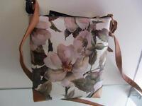 Rebecca & Rifka Floral Print Faux Leather Crossbody HandBag Purse