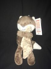 Carter's Just One You Stuffed Animal Brown Fox Soft Plush Toy Rattle Lovey
