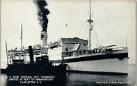 Shamrock Charleston SC US Army Hospital Ship Vintage Postcard EE1