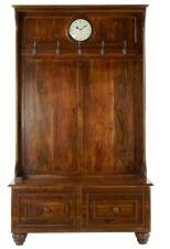 Hall Tree Bench with Clock, Coat Hooks & Drawers - 46 x 19 x 78