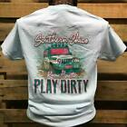 Southern Chics Know How to Play Dirty Jeep Mudding Girlie Bright Hammer T Shirt
