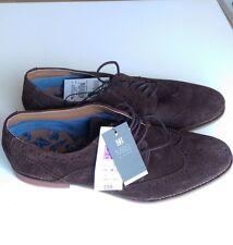 Nuevo Marcas Y SPENCER para Hombre de Cuero Gamuza Marrón Zapato Rrp £ 59-UK Size 7 (EU 40.5)