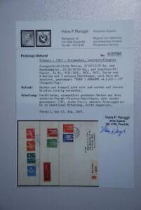 CH01 Suisse Europa Schweiz Komplettes Attest RAR 696y-699y FDC (4.10.1963)
