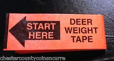 Deer Weight Measuring Tape For Hunter / Hunting Whitetail