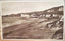 Rppc Beach Sands & White Rocks Portrush Northern Ireland Uk Valentine 1930s